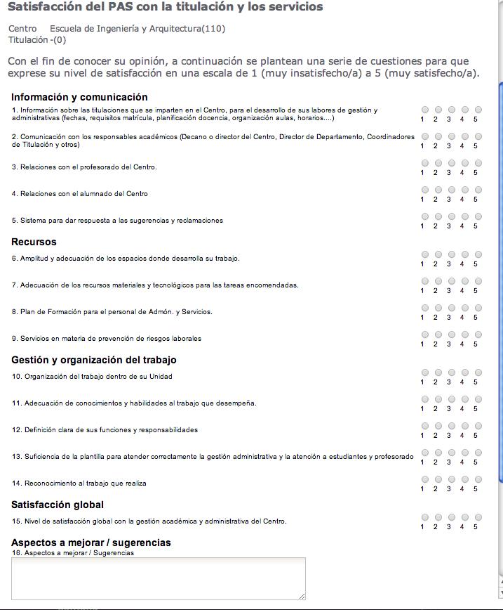 Formularios | Encuestas en Unizar